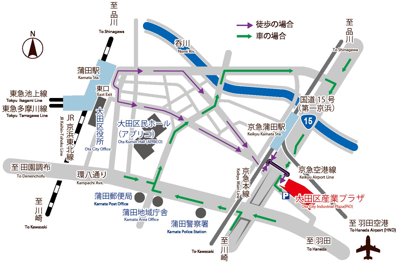 都産貿浜松町館マップ